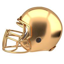 Golden American Football Helme...