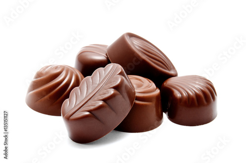 Fotografía Assortment of chocolate candies sweets isolated
