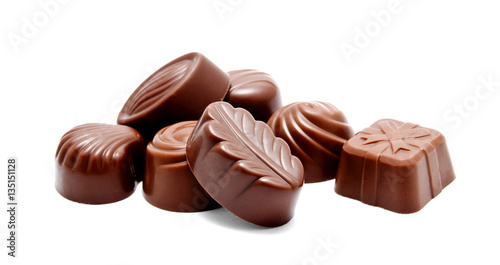 Foto op Aluminium Snoepjes Assortment of chocolate candies sweets isolated