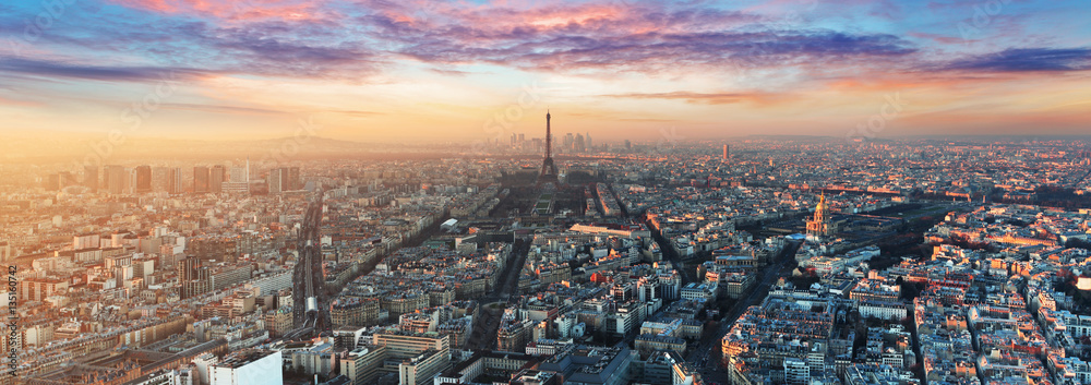 Fototapety, obrazy: Paris skyline - panorama