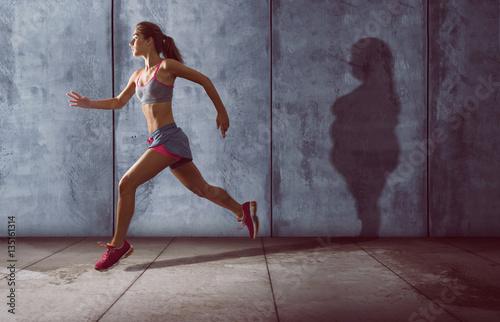 Trainieren gegen Übergewicht Wallpaper Mural