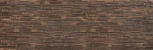 Horizontal Dark  Brown Brick W...