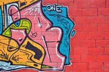 Wall Sprayed With Graffiti