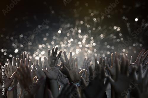 Plakat Ręce podczas koncertu