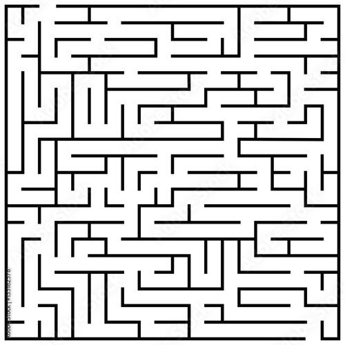 Maze Puzzle Labyrinth Brain Teaser Kids Game Vector Illustration