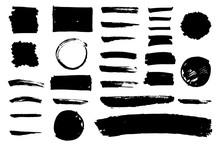 Set Of Grungy Hand Drawn Textu...