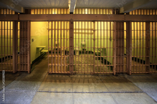 Alcatraz Jail House Block Canvas Print