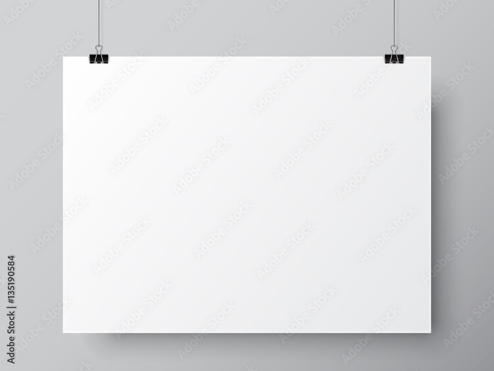 Fototapety, obrazy: Blank White Poster Template