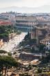 view of Via dei Fori Imperiali and Colosseum