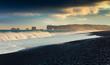 Stormy weather on the Kirkjufjara beach.