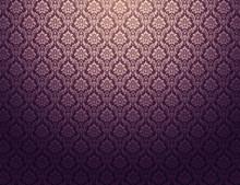 Purple Damask Pattern Background