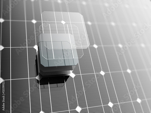 Obraz Solar panel, close-up. - fototapety do salonu
