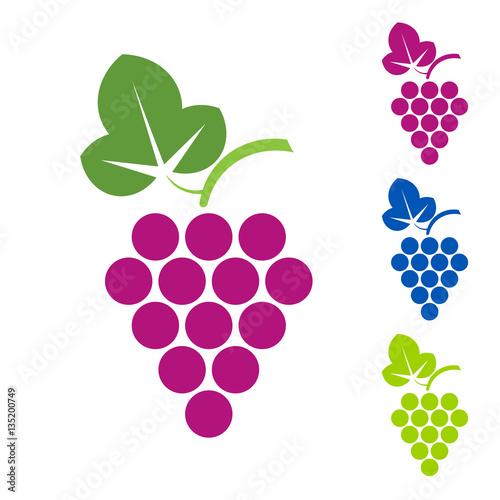 Grape sign. Logo wine production of wines Fototapete