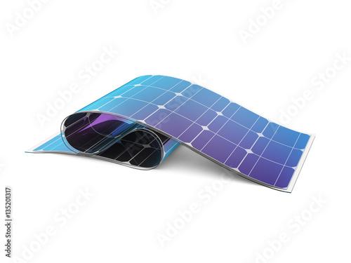 Fotografie, Obraz  Flexible solar battery.