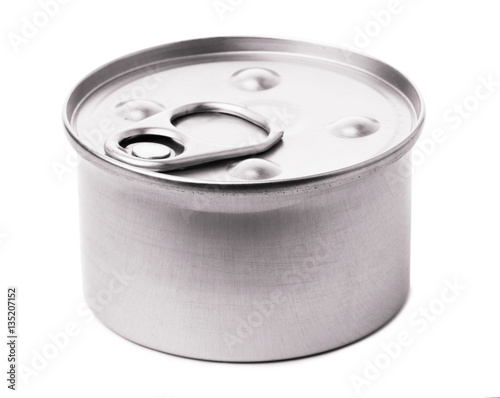 Tin with food
