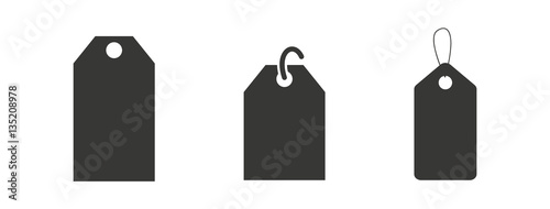 Fotografia  Label Price Tag Icon Pictogram Isolated Vector Set