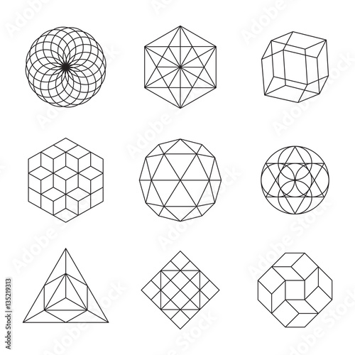 Geometric Shapes Set Fototapeta
