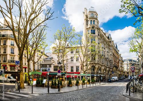 Fotografia kleiner Marktplatz in Paris, Frankreich