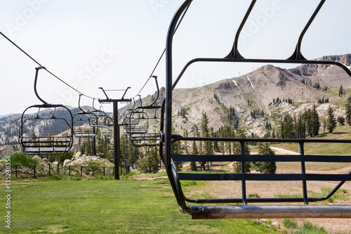 Photographie  Ski Lift Chairs in Summer