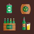 Beer vector illustration.