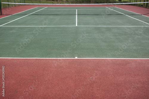 Photo  Empty tennis court