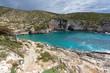 Panorama of Limnionas beach bay at Zakynthos island, Greece