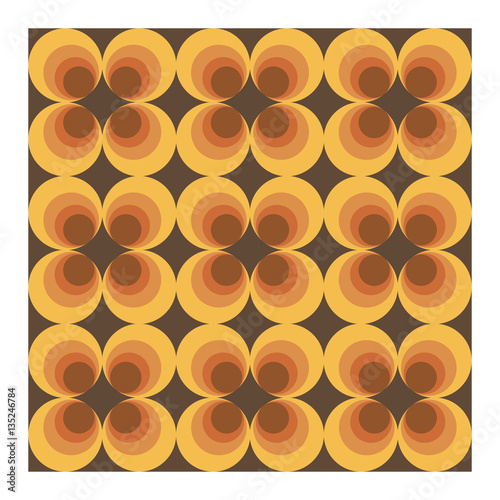 Photographie  Vector background of seventies colorful wallpaper