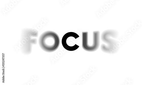 Fotografía  Word Focus with selective focus