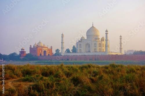 Fotografie, Obraz  The landmark Taj Mahal monument, a UNESCO World Heritage Site, in Agra, India