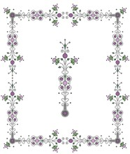Frilly Border Design With Deco...