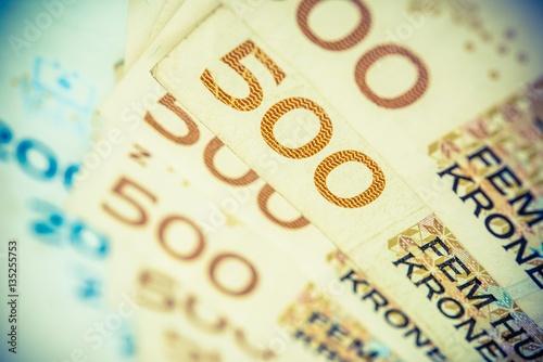 Fotografia, Obraz  Norwegian Krones Bills