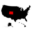 U.S. state of Colorado on the map