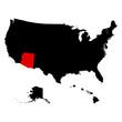 map of the U.S. state Arizona