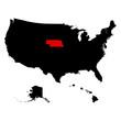 map of the U.S. state Nebraska