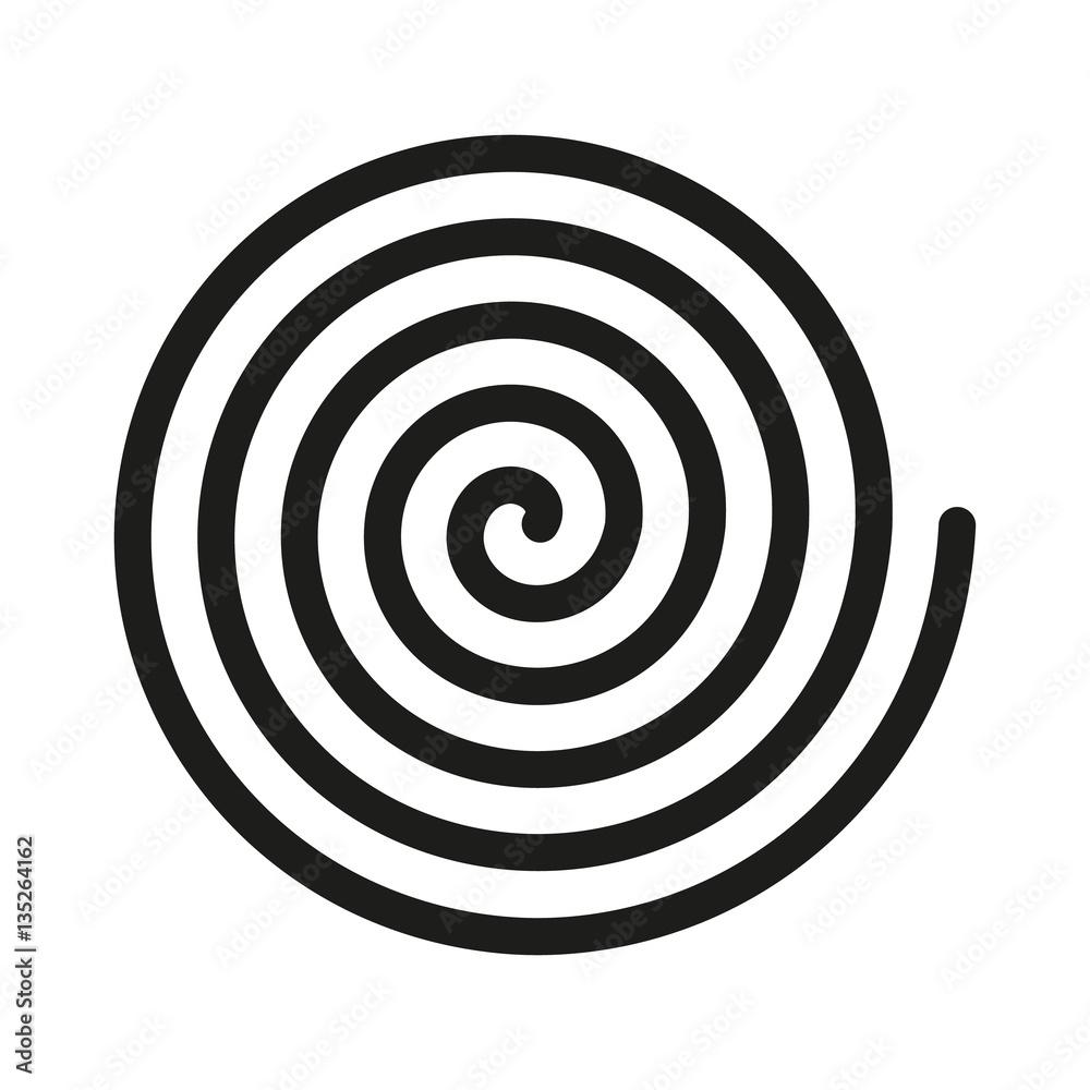 Fototapeta Spiral icon. Helix and scroll, gyre, curl, loop symbol. Flat design. Stock - Vector illustration