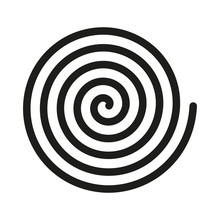 Spiral Icon. Helix And Scroll,...
