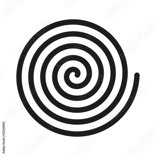 Fototapeta premium Ikona spirali. Spirala i przewijanie, zakręt, zwijanie, symbol pętli. Płaska konstrukcja. Zdjęcie - ilustracji wektorowych