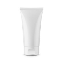 Round White Glossy Plastic Jar...