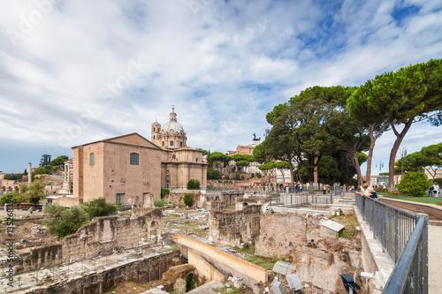 Fotobehang Midden Oosten Ruins of the Forum in Rome, Lazio region, Italy.