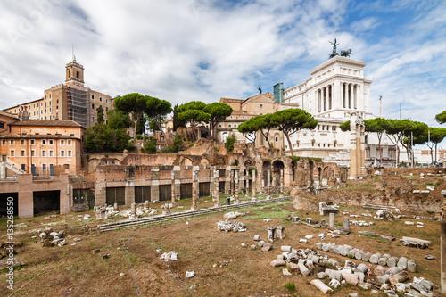 Foto op Aluminium Rome Ruins of the Forum in Rome, Lazio region, Italy.