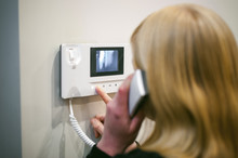 Blonde Woman Hangs Up The Phon...