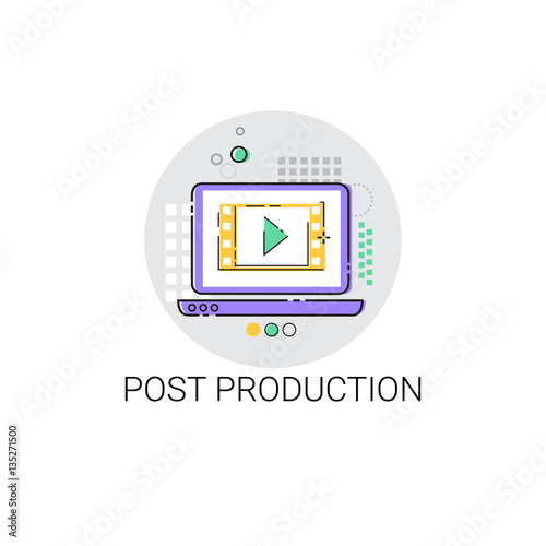 Camera Film Post Production Industry Icon Vector Illustration