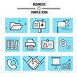 Business simple icon