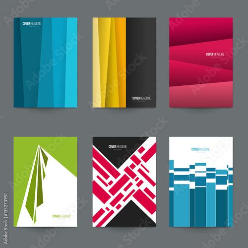Mockup A4 covers for branding presentation, advertising  Set