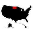 map of the U.S. state North Dakota