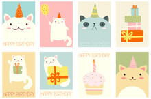 Set Of Birthday Banners With C...