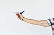 Man Holding Toy Plane Concept