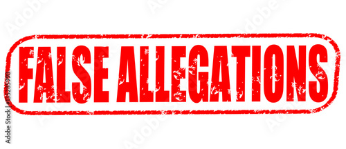 False allegations on the white background, red illustration Canvas Print