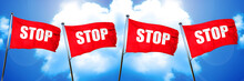 Stop Sign Flag, 3D Rendering