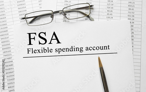 Paper with Flexible Spending Account FSA on a table Canvas-taulu